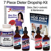 HCG Ultra Max Diet Kit - 7 Piece Dieter Kit Dropship to Patient SHIPS FREE