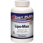 Lipo-Max Capsules - Diet Plan label